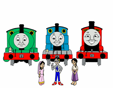 Three Engines and Three Kids by streetgals9000 by JQroxks21