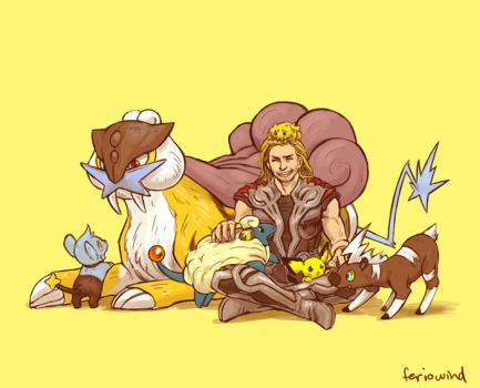 AVENGERS+PKMN - electric by FerioWind