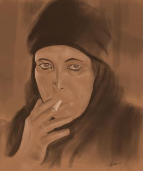 Bedouin woman (un-finished) by Lydiapourmand