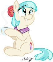 Coco Pommel (drinking hot cocoa) COLORED by Drewdini