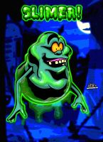 Slimer from The Real Ghostbusters! by CreedStonegate