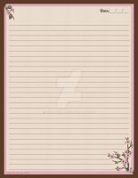 Cherry Blossoms Stationary by Erialosa