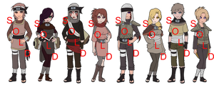 Mixed Suna Naruto OC Adoptables - SOLD OUT by mistressmaxwell