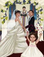 Caricature wedding by NataliaBenavides