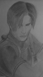 Drawing of Leon by MsDeadable