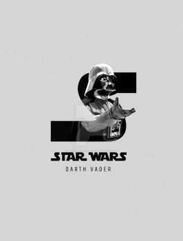 S is for Star Wars - Darth Vader by pribellafronte