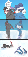 Nobody said they would be good at snowboarding by akiko-paradise