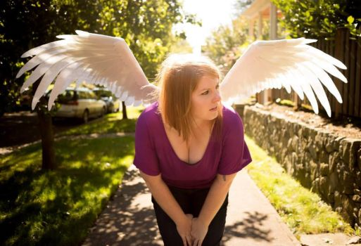 Giant felt wings by HeatherBomb
