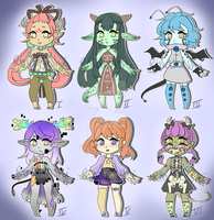 Adoptable Batch 1 [CLOSED] by Rina-tenshi