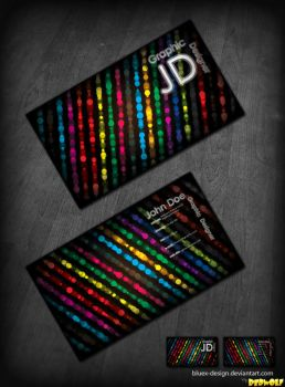 Disco Business Card .PSD by BlueX-Design