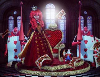 Queen Of hearts by jiajenn