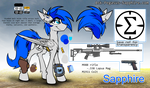 Sapphire new reference sheet by RalekArts
