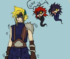 cloud...zack and axel.. by Black-Panda-Chan