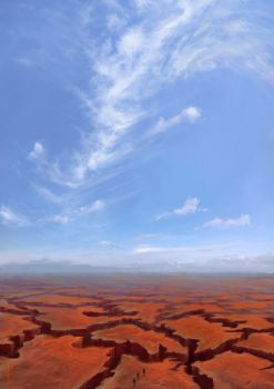 Blue Sky Over the Shattered Plains by bluesungfruit