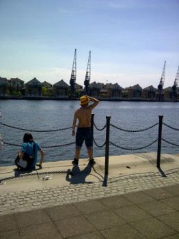me as luffy at excel mcm expo may 2012 by hitch436
