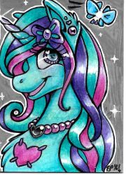 Pastel Heart ACEO by ElectricPoodle
