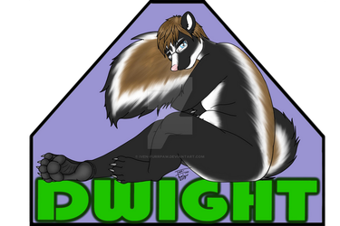 Dwight the Skunk Convention Badge by Iven-Furrpaw