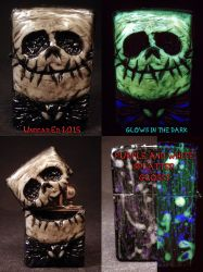 Jack Skellington Zippo by Undead Ed Glows in the D by Undead-Art