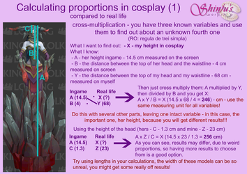Calculating proportions in cosplay (1) by ShinjusWorkshop