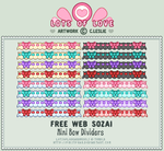 Pixel - Small Bow Divider by firstfear