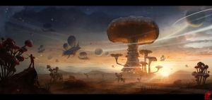 Fungus Planet by zhaoenzhe