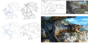 Dragon Tutorial.. by chrisscalf
