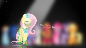 Wallpaper - Fluttershy - The fame is not funny by Zoekleinman