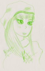 Kihara of Mari on Mabinogi quick sketch by Black-Feather