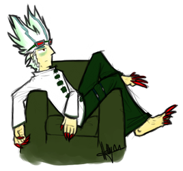 Lounging Lizard...Plant...Guy. by angelblood