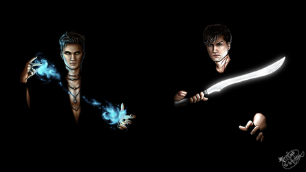 Magnus and Alec by Lienwyn