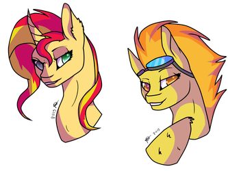 Two Awesome Pones by BLUEMISTDAWOLF