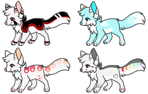Fox Adoptables 20 points each [CLOSED] by AdoptablesForWorld