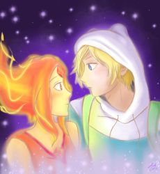 Finn and Flame Princess by VannerRox