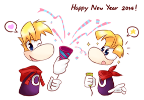 Happy New Year 2014 by noirjung