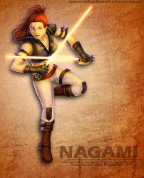 SWtoR: Nagami, Knight of the Republic by SmudgedPixelsArt