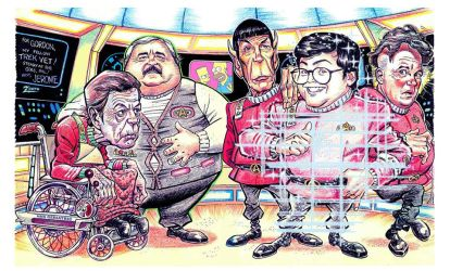 TREK CARICATURE by Jerome-K-Moore