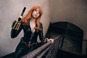 Black Widow cosplay 1 by AmuChiiBunny
