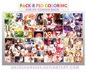 PACK 8 PSD COLORING FOR MY COMING BACK by akiochan5302