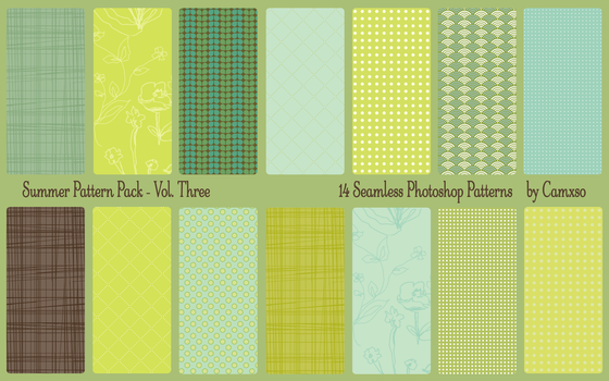 Summer Pattern Pack Vol. 3 by Camxso