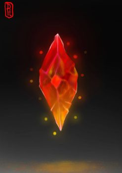 Fire Crystal by DrowsySnarkFish