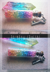 FOR SALE : Rainbow Crystal Bottle (closed) by D-Dyee