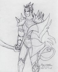 Kye concept sketch by Maverick-Werewolf