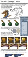 Coloring Tutorial - Semi-Realism by Mirin-Jinan