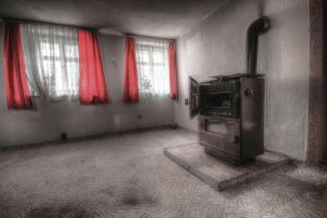 The red curtains II by CrawlingGirl