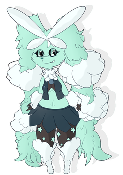 Mega Lopunny Frost Chibified by Shadow-pikachu7