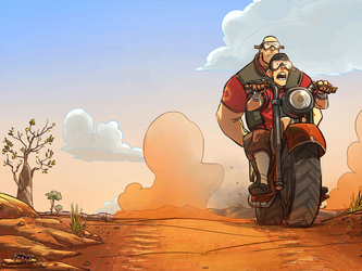 Heavy And Scout by dragonitearmy