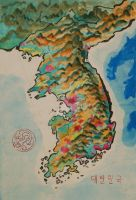 Cartography - Korea by albinogoth
