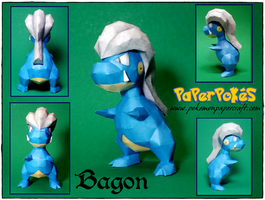Bagon Papercraft