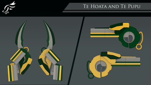 'Te Hoata /Te Pupu' - RWBY OC Weapons (Commission) by DenalCC1010