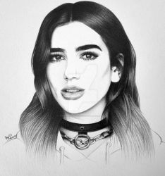 Dua Lipa by FromPencil2Paper